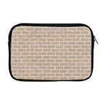 BRICK1 WHITE MARBLE & SAND Apple MacBook Pro 17  Zipper Case Front