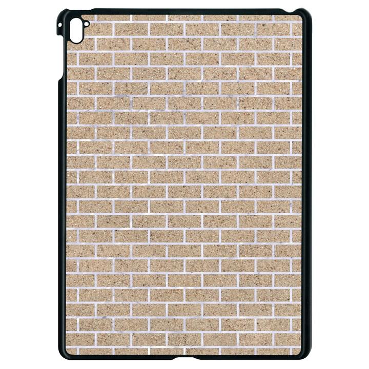 BRICK1 WHITE MARBLE & SAND Apple iPad Pro 9.7   Black Seamless Case