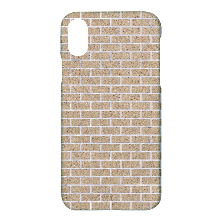 BRICK1 WHITE MARBLE & SAND Apple iPhone X Hardshell Case