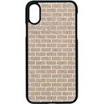 BRICK1 WHITE MARBLE & SAND Apple iPhone X Seamless Case (Black) Front