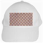 WOVEN2 WHITE MARBLE & RUSTED METAL (R) White Cap Front
