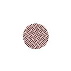Woven2 White Marble & Rusted Metal (r) 1  Mini Buttons