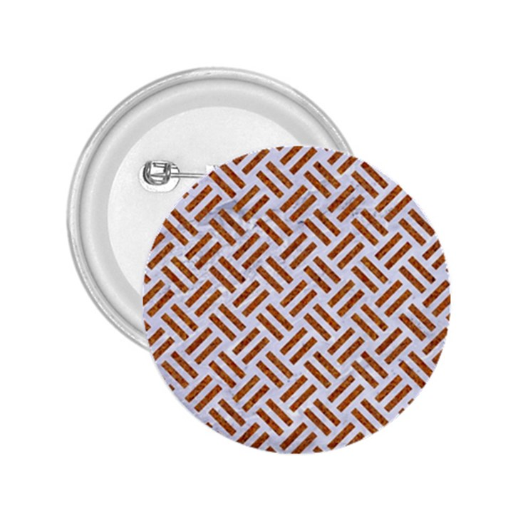 WOVEN2 WHITE MARBLE & RUSTED METAL (R) 2.25  Buttons