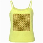 WOVEN2 WHITE MARBLE & RUSTED METAL (R) Yellow Spaghetti Tank Front