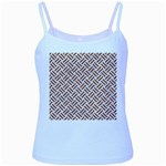 WOVEN2 WHITE MARBLE & RUSTED METAL (R) Baby Blue Spaghetti Tank Front