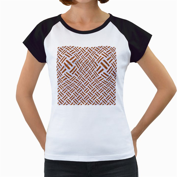 WOVEN2 WHITE MARBLE & RUSTED METAL (R) Women s Cap Sleeve T