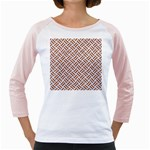 WOVEN2 WHITE MARBLE & RUSTED METAL (R) Girly Raglans Front