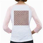 WOVEN2 WHITE MARBLE & RUSTED METAL (R) Girly Raglans Back