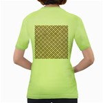 WOVEN2 WHITE MARBLE & RUSTED METAL (R) Women s Green T-Shirt Back