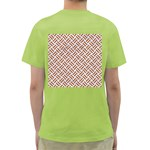 WOVEN2 WHITE MARBLE & RUSTED METAL (R) Green T-Shirt Back