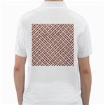 WOVEN2 WHITE MARBLE & RUSTED METAL (R) Golf Shirts Back