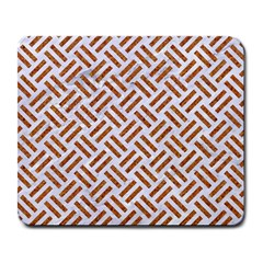 Woven2 White Marble & Rusted Metal (r) Large Mousepads