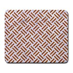 WOVEN2 WHITE MARBLE & RUSTED METAL (R) Large Mousepads Front