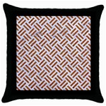 WOVEN2 WHITE MARBLE & RUSTED METAL (R) Throw Pillow Case (Black) Front