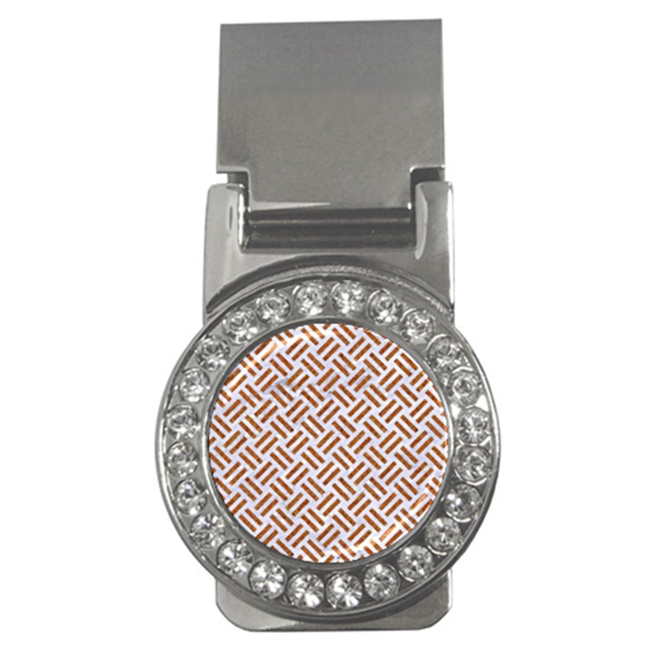WOVEN2 WHITE MARBLE & RUSTED METAL (R) Money Clips (CZ)