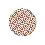 WOVEN2 WHITE MARBLE & RUSTED METAL (R) Magnet 3  (Round) Front