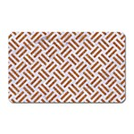 WOVEN2 WHITE MARBLE & RUSTED METAL (R) Magnet (Rectangular) Front