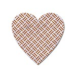WOVEN2 WHITE MARBLE & RUSTED METAL (R) Heart Magnet Front