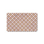 WOVEN2 WHITE MARBLE & RUSTED METAL (R) Magnet (Name Card) Front