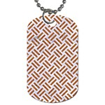 WOVEN2 WHITE MARBLE & RUSTED METAL (R) Dog Tag (One Side) Front