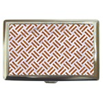 WOVEN2 WHITE MARBLE & RUSTED METAL (R) Cigarette Money Cases Front