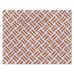 Woven2 White Marble & Rusted Metal (r) Rectangular Jigsaw Puzzl