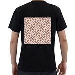 WOVEN2 WHITE MARBLE & RUSTED METAL (R) Men s T-Shirt (Black) (Two Sided) Back