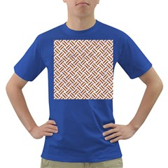 Woven2 White Marble & Rusted Metal (r) Dark T Shirt