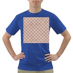 WOVEN2 WHITE MARBLE & RUSTED METAL (R) Dark T-Shirt Front