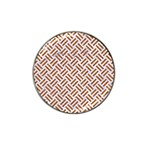 WOVEN2 WHITE MARBLE & RUSTED METAL (R) Hat Clip Ball Marker Front