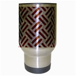 WOVEN2 WHITE MARBLE & RUSTED METAL (R) Travel Mug (Silver Gray) Center