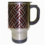 WOVEN2 WHITE MARBLE & RUSTED METAL (R) Travel Mug (Silver Gray) Right