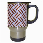 WOVEN2 WHITE MARBLE & RUSTED METAL (R) Travel Mugs (White) Right