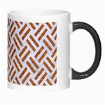 WOVEN2 WHITE MARBLE & RUSTED METAL (R) Morph Mugs Right