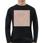 WOVEN2 WHITE MARBLE & RUSTED METAL (R) Long Sleeve Dark T-Shirts Front