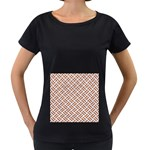 WOVEN2 WHITE MARBLE & RUSTED METAL (R) Women s Loose-Fit T-Shirt (Black) Front