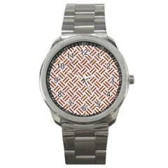 Woven2 White Marble & Rusted Metal (r) Sport Metal Watch