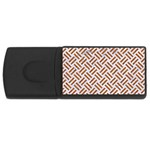 WOVEN2 WHITE MARBLE & RUSTED METAL (R) Rectangular USB Flash Drive Front