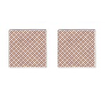 WOVEN2 WHITE MARBLE & RUSTED METAL (R) Cufflinks (Square) Front