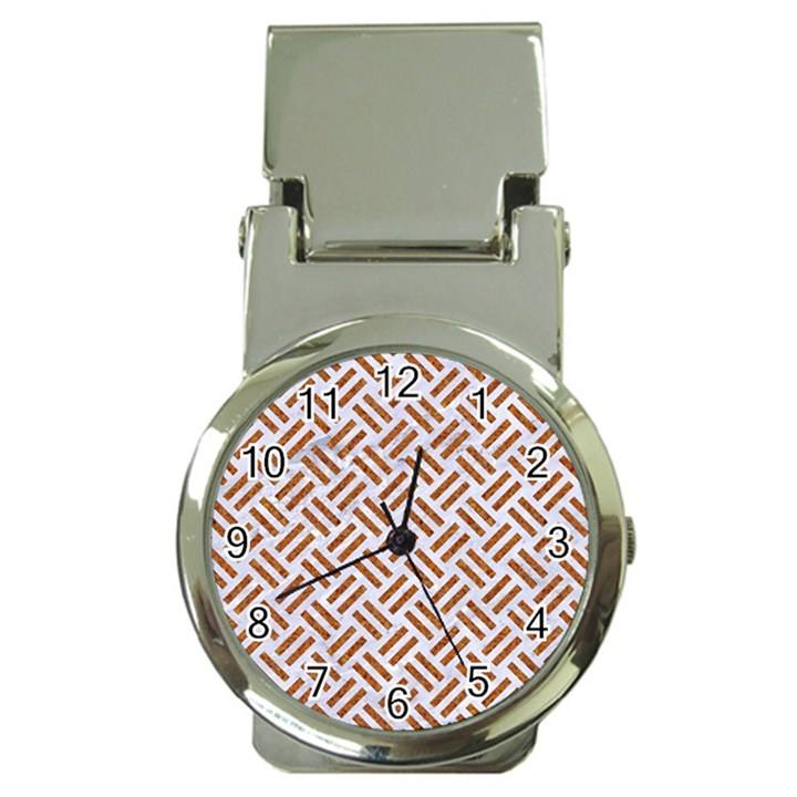 WOVEN2 WHITE MARBLE & RUSTED METAL (R) Money Clip Watches