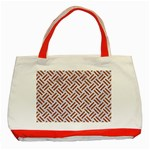 WOVEN2 WHITE MARBLE & RUSTED METAL (R) Classic Tote Bag (Red) Front