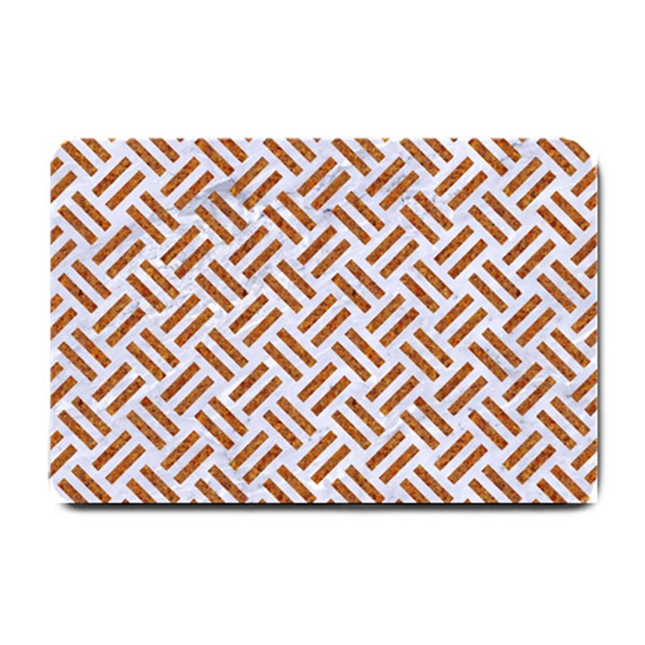 WOVEN2 WHITE MARBLE & RUSTED METAL (R) Small Doormat