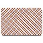 WOVEN2 WHITE MARBLE & RUSTED METAL (R) Large Doormat  30 x20 Door Mat - 1