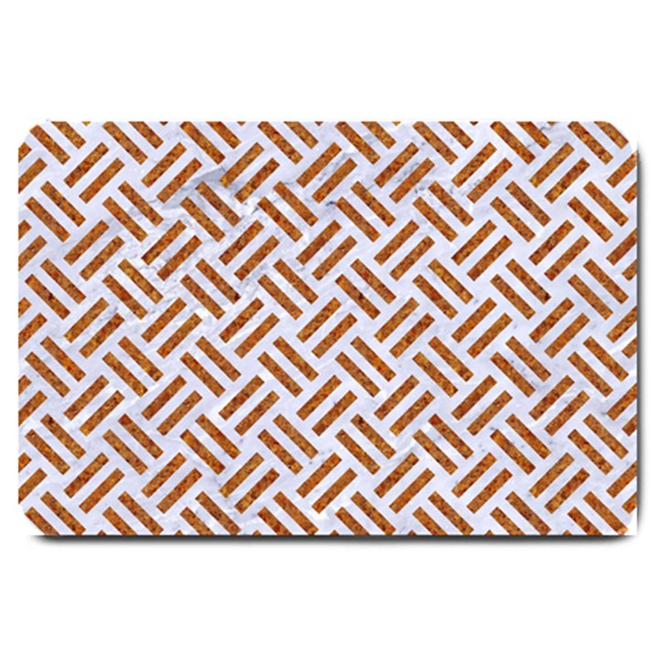 WOVEN2 WHITE MARBLE & RUSTED METAL (R) Large Doormat