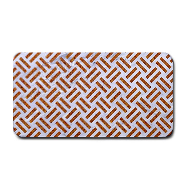 WOVEN2 WHITE MARBLE & RUSTED METAL (R) Medium Bar Mats