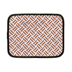 Woven2 White Marble & Rusted Metal (r) Netbook Case (small)