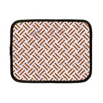 WOVEN2 WHITE MARBLE & RUSTED METAL (R) Netbook Case (Small)  Front