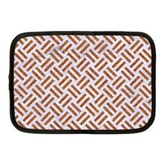 Woven2 White Marble & Rusted Metal (r) Netbook Case (medium)