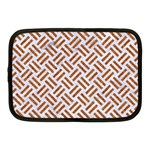 WOVEN2 WHITE MARBLE & RUSTED METAL (R) Netbook Case (Medium)  Front
