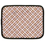 WOVEN2 WHITE MARBLE & RUSTED METAL (R) Netbook Case (Large) Front